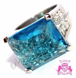 Sea of Glass Cubic Zirconia Endless Pool Ring
