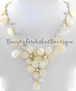 Genuine Mother of Pearl Fresh Water Pearl Flowers Necklace