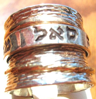 Spin ring Kabbalah names for protection health abundance