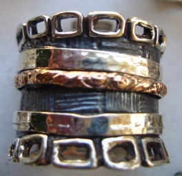 Spinning ring Bohemia Israeli ring stackable rings spinner