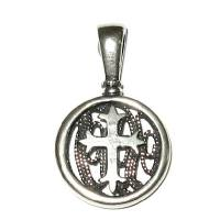 Delicate sterling silver Cross pendant  filigree
