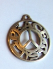 Peace Shalom pendant for making jewelry