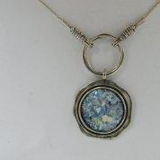 Silver necklaces roman glass jewelry
