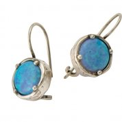 Israeli jewelry |opal earrings | silver earrings