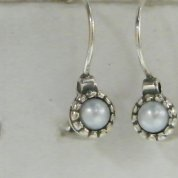 Israeli silver earrings | pearl earrings |bridal jewelry