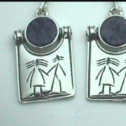 Jewelry | Israeli silver earrings | naif engraved motif