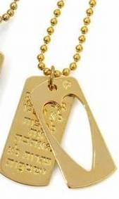 Israeli Jewelry Love necklace