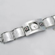 Sterling silver watch handcrafted