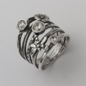 Silver jewelry| silver ring |cubic zircons