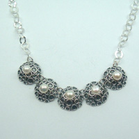 Magnificent 925 Silver Gift 4 Freshwater Pearls Necklace