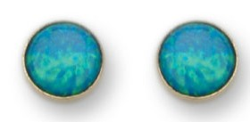 Earrings set with opal 9ct