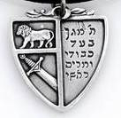 Shield necklace sterling silver jewish jewelry
