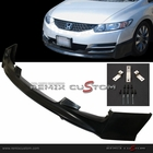 09-11 Honda Civic 2DR Coupe MUG-EN Style PU Front Body Bumper Lip Spoiler Kit