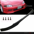 92-95 Honda Civic 4DR Sedan Type R PU Front Body Bumper Lip Spoiler Kit