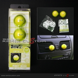 "Air Freshener Cue Ball Type Yellow ""Shinny Berry"""