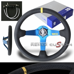 Spaco 015TMZS1 Monza Suede Steering Wheel