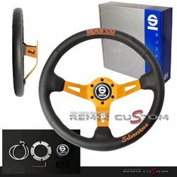 SPAR Tuner 350mm Silverstone Steering Wheel Gold Edition