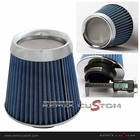 "Performance 3"" Chrome Top Mesh Opening Air Intake Filter Blue"