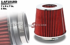 "Performance Chrome Top 3"" Air Intake Filter Red"