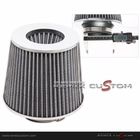 "Performance Chrome Top 3"" Air Intake Filter Cone Gray"