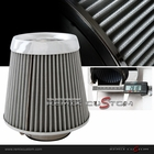 "Universal 3"" Chrome Trim Air Filter White"