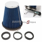 "Performance 2.5"" Air Intake Filter Cone Blue"