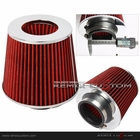 "Performance 2.5"" Air Intake Filter Cone Red"