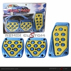 Universal M/T Neon Grow Racing Pedal Set Blue/Yellow
