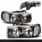 99-06 GMC Yukon / Sierra Black Headlights