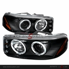99-06 GMC Denali / Sierra LED Halo Projector Headlights Black