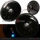"Universal 7"" Black Housing Lamp with Super White H4 Bulbs"