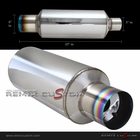 "3"" Inlet / 4"" Tip Universal N1 Muffler with Flat Burnt Tip"