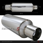 "3"" Inlet / 4"" Tip Universal N1 Muffler with Flat Tip"