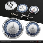 Mercedes Benz 45mm Front Hood + 60mm Rear Trunk Emblem Badge (Fits most models)