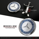 Mercedes Benz 45mm Front Hood  Emblem Badge (Fits most models)