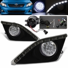 09-10 Toyota Corolla DRL with 16 Super White LED Fog Lights Kit Smoke
