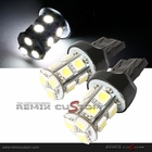 7443 Type SMDx13 White LED Light Bulbs (PR)
