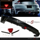 11-12 Honda CRZ MUG-EN ABS Rear Body Bumper Lip Kit Spoilers with LED Brake Light
