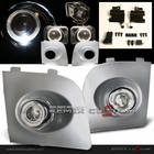 06-07 Subaru Impreza Projector Halo Fog Lights with Paintable Silver Covers