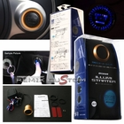 Quick Engine Push Start Button with Gold ring - Blue