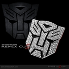 "Transformer Autobot Car Logo Hood / Trunk 3"" Bling Diamond Emblem (3M)"