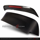 92-95 Honda Civic 3DR Hatchback Roof Spoiler Carbon Wing w/ LED Brake Lights