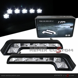 Super Bright LED Daily Driving Light Benz Style Black