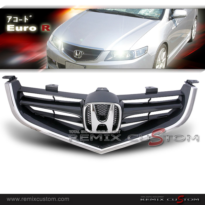 Acura TSX JDM EuroR Style Front Grills - Acura tsx grill