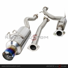 "06-08 Honda Civic Si Coupe 2DR N1 4""Tip Catback Exhaust System with Burnt Tip"