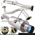 96-00 Honda Civic EK 3DR Catback Exhaust Muffler System with Burnt Tip