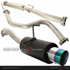 "92-00 Honda Civic 2/4DR N1 Style Black Canister 4"" Rainbow Tip Catback Exhaust"