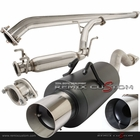 06-10 Honda Civic 2/4DR Non-Si Black Catback Exhaust System Stainless Tip