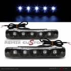 LED SMDx5 Euro Style DRL Day Light Running Light Black