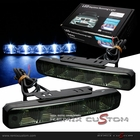 LED SMDx5 Euro Style DRL Day Light Running Light Gunmetal